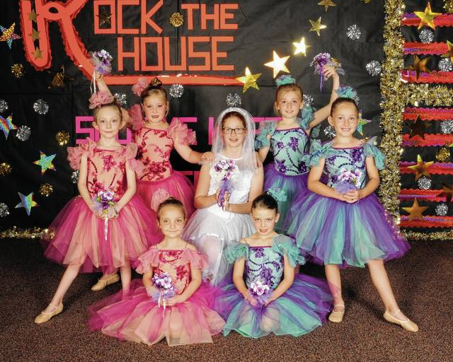 Rock The House Show Me What Ya Got is the title of this year's Nancy Anderson Dance Recital, to be held at 7 p.m. Saturday, June 3, at Urbana High School. Tickets will be available at the door. Dancers are, back row, Leslie Holbrook, Dillynn Demoss, Bride-Abigail Jenks, Katie King, Khloe Karg, Sophia Mangus and, at bottom, Mallory Stokes. This photo is of the Going to the Chapel Ballet routine.
