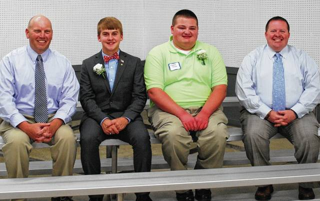 From left are Aaron Pittsenbarger, Andrew Fansler, Conner Prince and David Sapp.