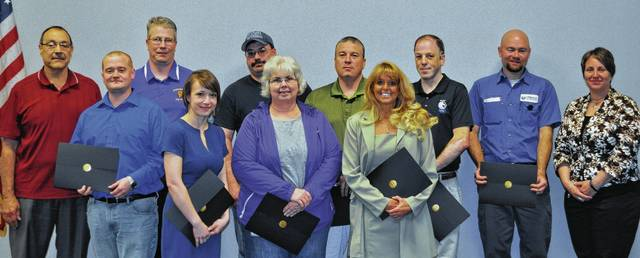 Winners of multiple safety awards were John Catenacci and Isaac Garrison, Tech II; Scott Maruniak, Mechanicsburg Exempted Village School District; Lydia Hess, Champaign County Chamber; Chris Jones, Macochee Joint Ambulance District; Debi Bair, Shippers Automotive Group; Larry Goings, KTH Parts Industries; Cindee Boyd, Village of West Liberty; Eric Lang, Shaffer Manufacturing; Derrick Brashears; and Kelly Evans Wilson, Urbana University.