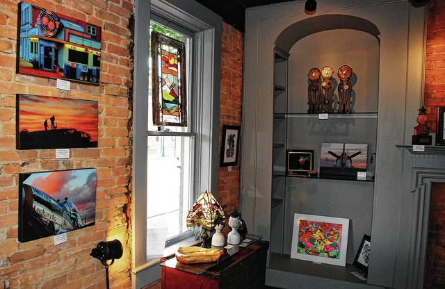 Numerous works of art are for sale at The Studio & Fine Arts Gallery, 119 Scioto St. in Urbana. Owned by Pat and Patsy Thackery, the business will have its grand opening celebration from 11 a.m. to 6 p.m. on Saturday, June 3.