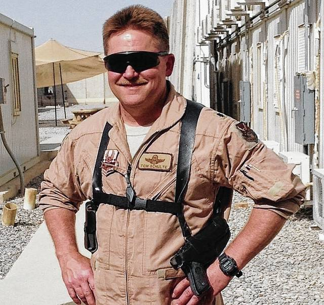 Retired USAF Lt. Col. Thomas D. Schulte Jr. will deliver the message at a Memorial Day worship service at 10 a.m. Sunday, May 28, at the Gloria Theatre in Urbana. The public is invited to the service, which will honor veterans, active military personnel and their families.