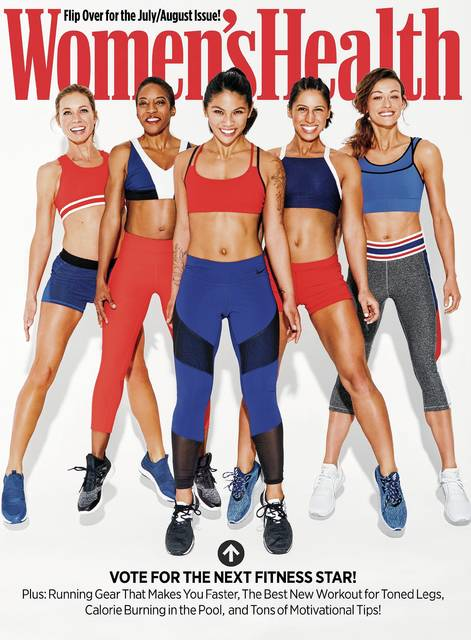 Lana Titus (pictured on the far left) is one of five finalists for the <em>Women&#8217;s Health</em> magazine &#8220;Next Fitness Star&#8221; contest.