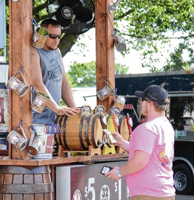 Patrons at the Rhythm and Food festival over the weekend enjoyed a variety of local and regional food and beverages, including Shannon's Southern Style Sweet Tea.