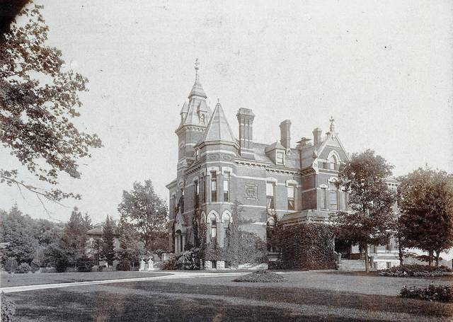 This photo shows the former John S. Kirby residence at 591 Scioto St., Urbana (circa 1890).