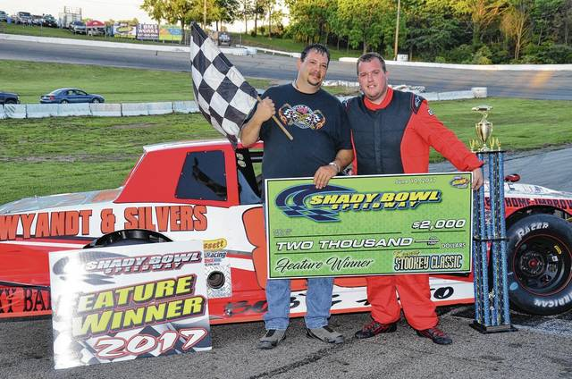 Josh Sage won the Stookey Memorial at Shady Bowl on Saturday, dominating the race for the victory.