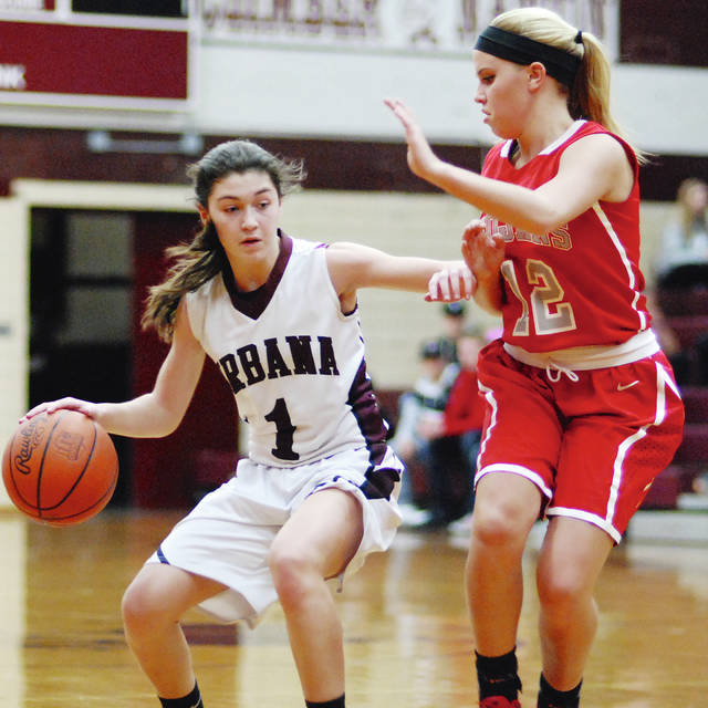 Urbana's girls basketball team, led by guard Alaina Lyons (left) will compete in Division III for the upcoming season.