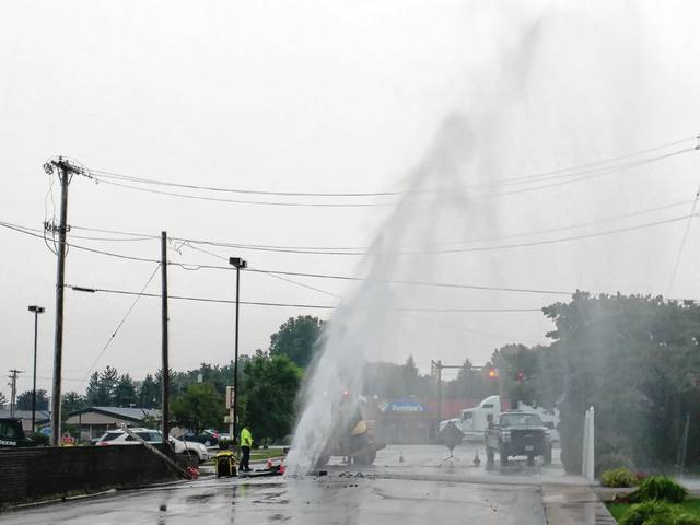 A water main break on Finch Street caused quite a show and quite a mess Thursday.