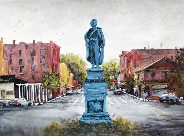 Pictured is a painting by Rhonda Sloan, a St. Paris resident selected as the 2017 Art Affair on the Square featured artist.