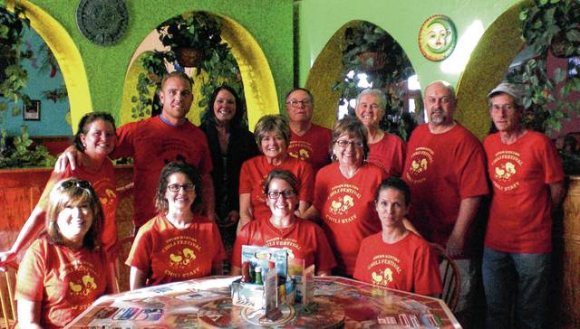 Shown are, front from left, Sandy Loffing, Amy Armstrong, Carolyn Headlee, Lois Monroe, standing from left, Beth Adair, Jeremiah Stocksdale, Audra Bean, Sandy Gonzalez, Bill Bean, Mary Collier, Vince Gonzalez, Mark Hall and Jeff Heiberger.