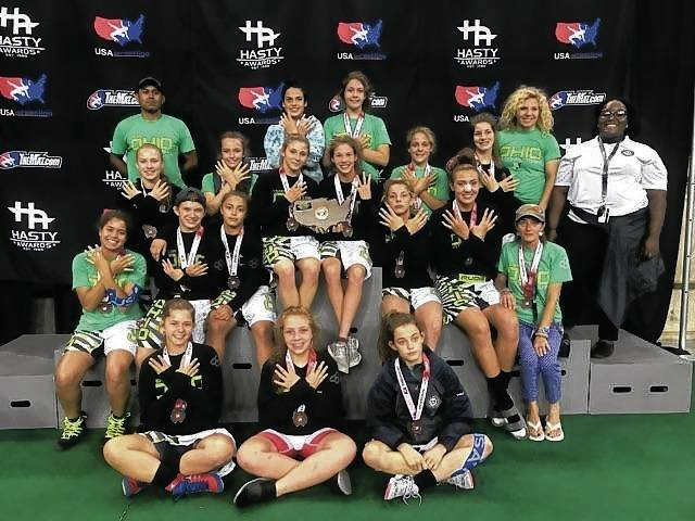 The Ohio Women's National Wrestling Team earned All-American status with an 8th place finish at the U.S. Marine Corps' Junior/Cadet National Championships last week. Six individuals earned All-American status, including St. Paris' Olivia Shore.