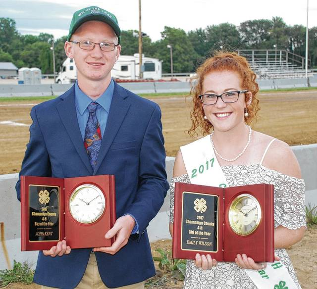 J.P. Kent and Emily Wilson were named the 2017 4-H Boy and Girl of the Year.
