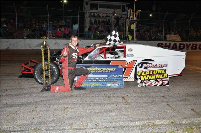 Greg Stapleton (pictured) won the Bill Lewis 50 on Saturday at Shady Bowl.
