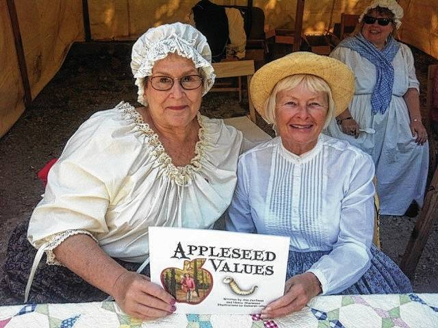 At 2 p.m. on Sunday, Sept. 24, Ann Corfman, left, and Nancy Sherwood, right, members of the Johnny Appleseed Society, will present a program on Johnny Appleseed at the Champaign County Historical Museum, 809 East Lawn Ave., Urbana. Dressed in period costumes, they will discuss the life of John Chapman through six values he exemplified throughout his life. Accompanied by life-sized vinyl picture and puzzle pieces, they will follow his life from his birth in Leominster, MA, in 1774 to his death in Fort Wayne, IN, in 1845. Their books, A is for Appleseed, Appleseed Values, and a teacher's manual for A is for Appleseed will be available for purchase.