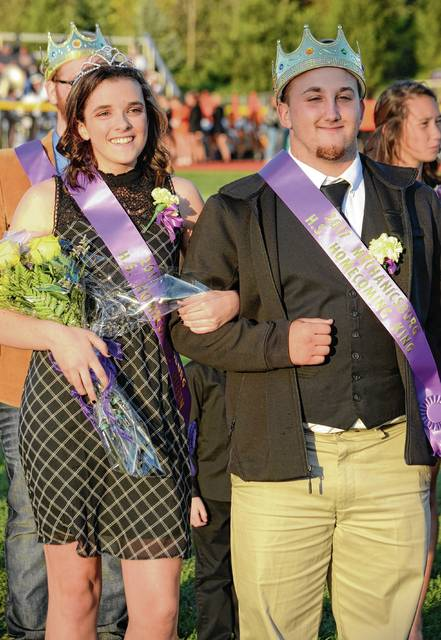 Grace Layne was crowned Homecoming Queen and Drew Vanvoorhis was named the Homecoming King on Friday night at Mechanicsburg.