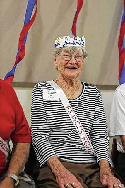 Juanita Cummings of Groveport was crowned Francis family's reunion queen at an event in Mechanicsburg on Sept. 17.
