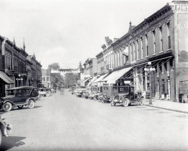 This is a photo of South Springfield Street, St. Paris, looking north toward Main Street. Note the Fall Festival (now known as Pony Wagon Days) banner at the intersection of Main and Springfield streets, which indicates the festival that year was Oct. 18-20. The year is likely in the 1920s or 1930s. The Pony Wagon Town Historical Museum on South Springfield Street in St. Paris will be open during the Pony Wagon Days this year. The event started Thursday and continues through Saturday. (Champaign County Historical Society #0634) The Champaign County Historical Society is an all-volunteer, not-for-profit organization that preserves, protects, archives and displays the artifacts that tell Champaign County's history. The society operates on donations and dues and has a free public museum of history on East Lawn Avenue in Urbana.