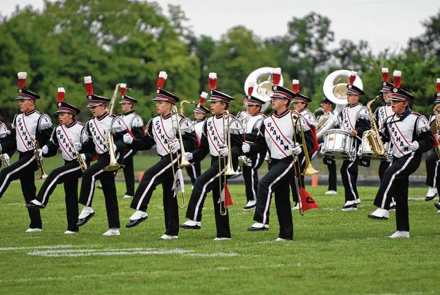 Graham's Dancing Band from Falconland performs during pregame of a Friday night football game earlier this season.