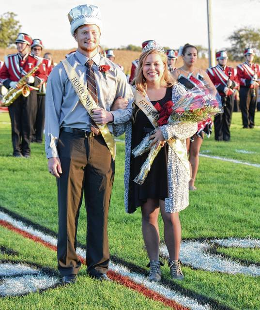 Jacob Greve was crowned Homecoming King and Lauren McCall was crowned Queen prior to Friday night's Triad game against visiting Northeastern.