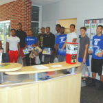 Athletes help with donation effort