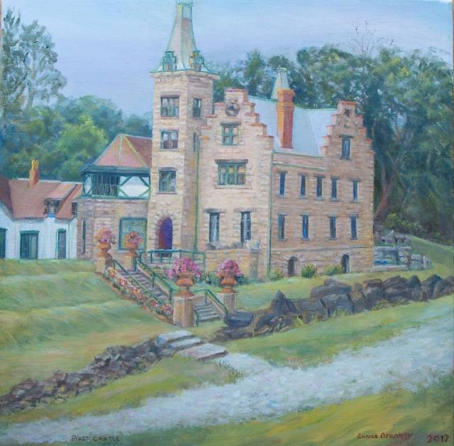 Mac-O-Chee Castle is featured in this Eunice Bronkar artwork.