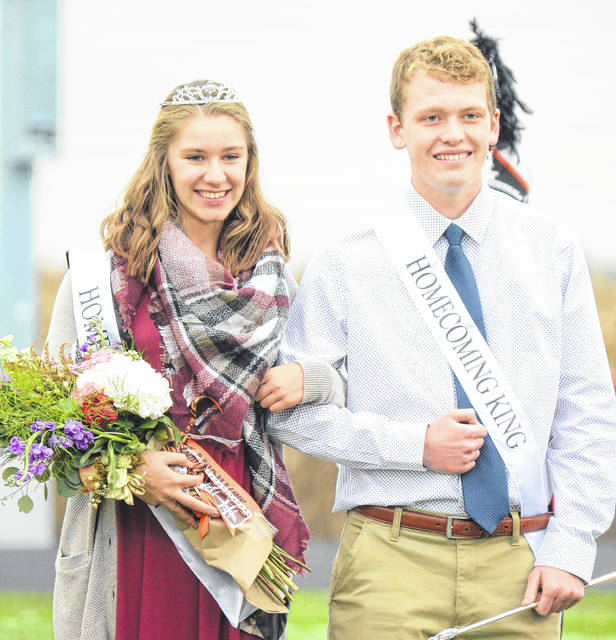 Leah Kauffman was named the homecoming Queen during West Liberty-Salem's 2017 festivities on Friday, with Logan Cole crowned King.