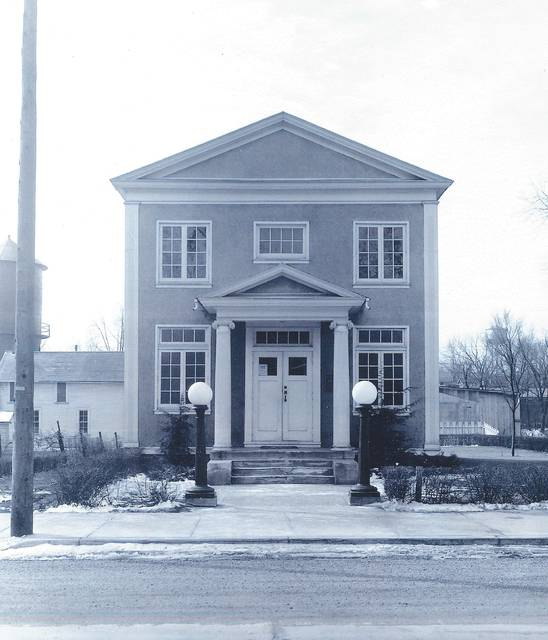 This photo of the St. Paris Public Library was taken in 1982 or before. Additions to the structure occurred after that date.