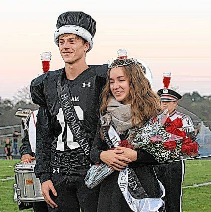Graham High School announced its homecoming king and queen prior to Friday night's game against visiting Ben Logan. Zach Caudill and Rachel Kaiser are the 2017 king and queen.