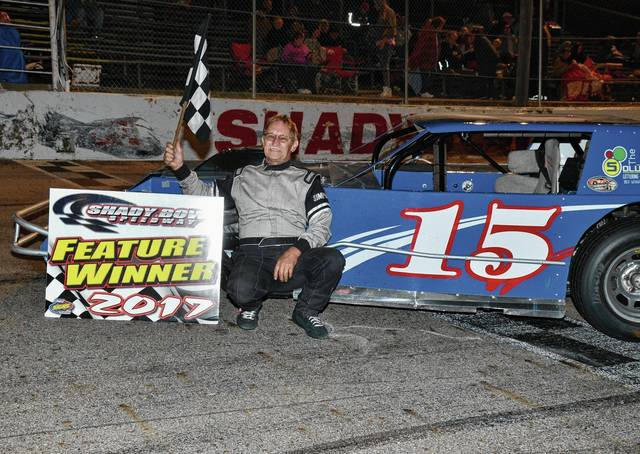 Xenia driver Scott Drake took his second modified feature win at Shady Bowl on Saturday.