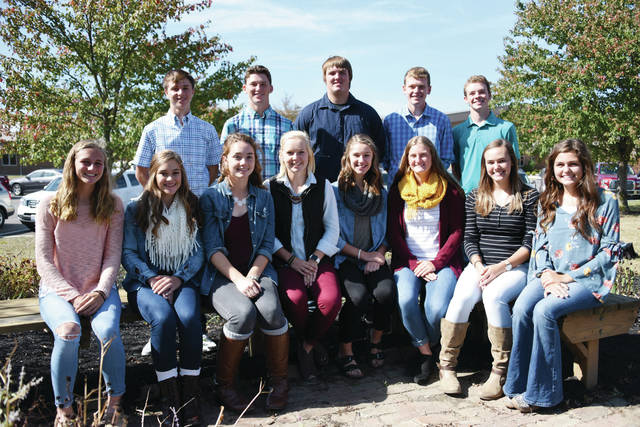 This week is fall homecoming for West Liberty-Salem, including the unveiling of the homecoming court. Pictured are court members (front row from left): Freshman Attendant Grace Estes, Sophomore Attendant Anna Kauffman, Junior Attendant Rachel McGill, Senior Queen Candidates Laine Godwin, Leah Kauffman, Dierdre McGill, Janie Kopus, Mallary Caudill. In back row from left are Senior King Candidates: Neil Markin, Braden Miller, Trevor Burden, Logan Cole and Tyler Jones.