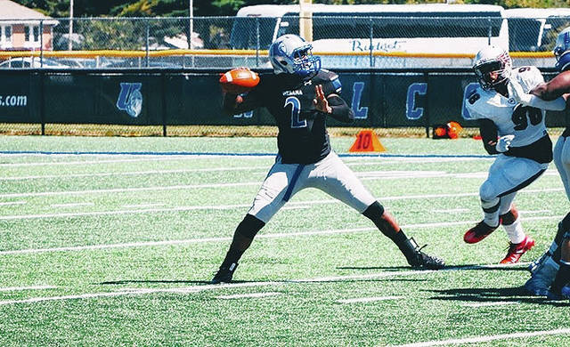 UU quarterback Tajuan Green (pictured) passed for 199 yards and two touchdowns in Saturday's season finale.