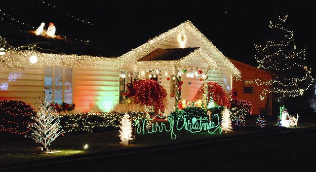 This house at 120 Union St. in Urbana is always lit up for the Christmas season.