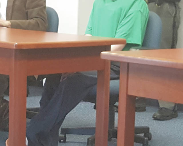 Donovan A. Nicholas sits in court during an April hearing in the Champaign County Common Pleas Court Juvenile Division. A Champaign County grand jury indicted him Friday in connection with the April 6 homicide of Heidi F. Taylor.