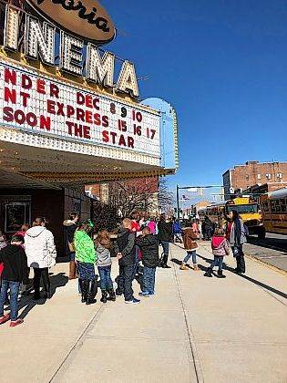 """Students from Champaign County students attended the anti-bullying movie """"Wonder"""" at The Gloria this week."""