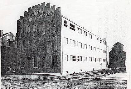 The Urbana Broom Company was located at the intersection of West Court Street and what is now Washington Street.