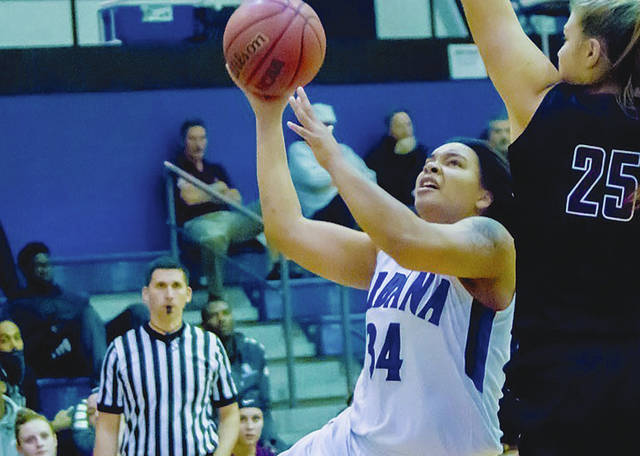 UU's Sylvia Hudson (34) had 14 points and 7 rebounds in Monday's 72-61 loss to Tiffin in the Salem International tournament.