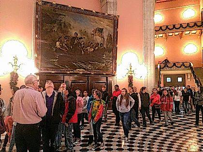 """Urbana Junior High 8th graders spent the last day of school before Christmas break exploring the Ohio Statehouse. Teachers Amanda Goodwin and Sadie Steffan received a grant from the Ohio Statehouse that provided free transportation and a tour of the building. Students have been studying the three branches of government and were excited to see where the """"action"""" takes place. """