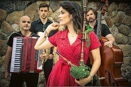 The Cristina Pato Quartet, shown here with a Galician bagpipe, will perform at the Clark State Performing Arts Center on Jan. 27.