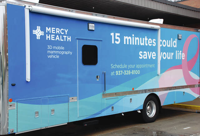 Pictured is the exterior of the mobile mammography unit that has been serving Clark and Champaign counties for the past year.
