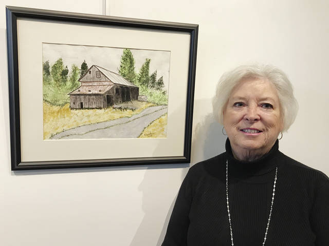 """Kristen Sanders is an entrant in the """"Bad Art by Good People"""" fund-raiser, but those who appreciate serene rural images might not find this one so 'bad' after all."""