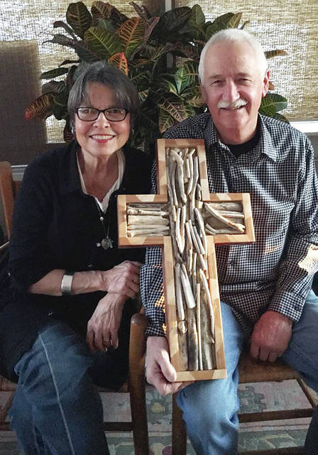 Marcia and Greg Ward pose with their entry in the 2018 CCAC fund-raiser.