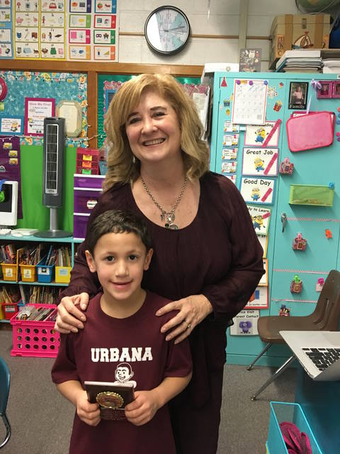 Owen Jenkins, Urbana North Elementary Student of the Month, is in Mrs. Ault's class.