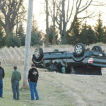 Rollover crash causes injuries