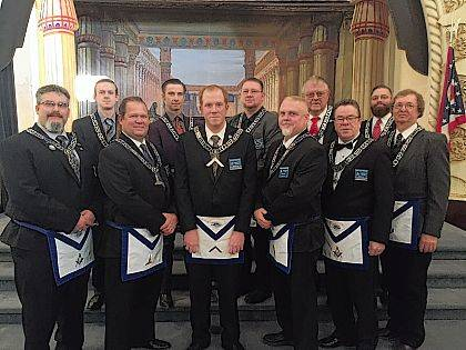 Harmony Lodge No. 8 F&AM will host its Annual Inspection on Saturday, March 24, with an 8 a.m. breakfast at the Urbana Masonic Center (9 a.m. Open in FC Degree). The group's 2018 officers are Worshipful Master Jamison Jones, Senior Warden Jeff Gier, Junior Warden Chris Blakeman, Senior Deacon and LEO Robert Pollock, Junior Deacon Chris Mann, Senior Steward Joel Campbell, Junior Steward Tim Kingery, Secretary Rhawn Jackson, Treasurer Mike Terry, Chaplain Tim Wright and Tiler Jim Oliver. Harmony Lodge regularly meets the first Thursday of every month at 7:30 p.m. at its center at 222 N. Main St.