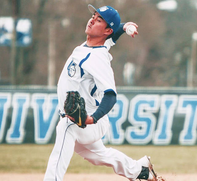 UU's Vitor Takakura (pictured) allowed three hits during a career-best outing on Saturday.