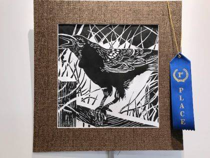 Austin Deere's first place Printmaking
