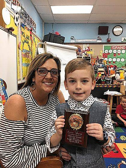 The Urbana North Student of the Month is Ashton Wagner from Mrs. Marsh's class.