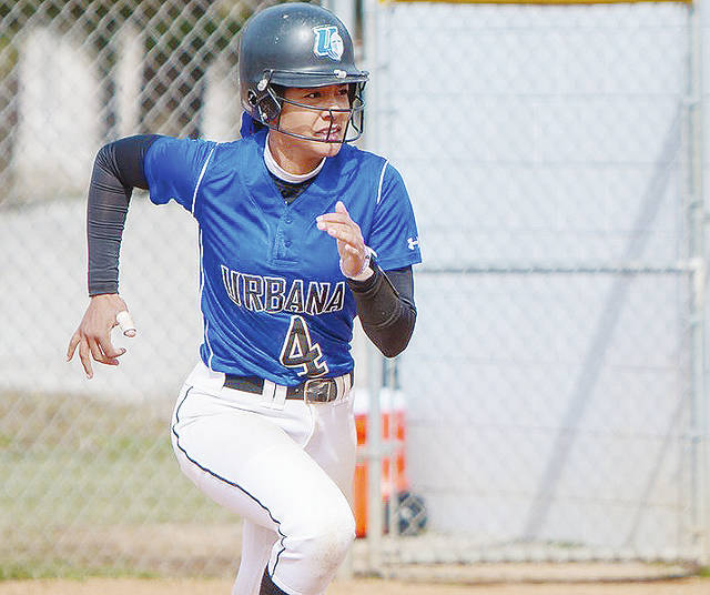 UU's Mykee Holtz (pictured) doubled twice and had 3 RBI in Wednesday's first game.
