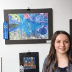 Middle school artists show their work