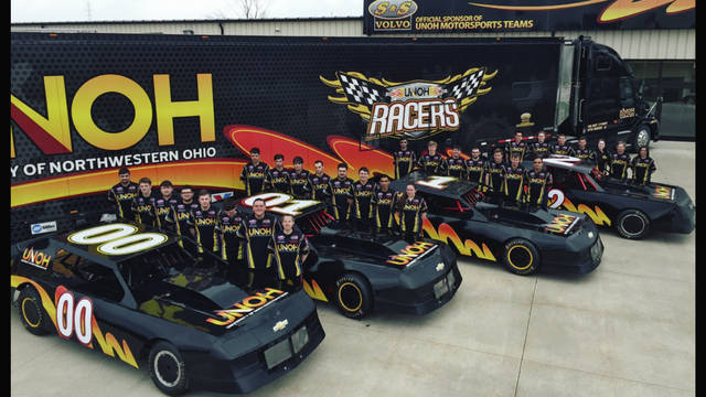 """Most schools have a football team. UNOH has a fleet of racing teams and operates its """"NASCAR Home Track."""" Thousands of UNOH graduates are working for professional racing teams and organizations all over the world, including NASCAR."""