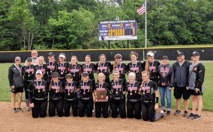 The West Liberty-Salem Tigers softball team beat Madison, 8-3, to win the Division III district softball title on Friday, May 18.